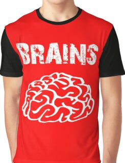 BRAINS by Zombie Ghetto Graphic T-Shirt