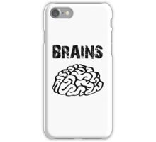 BRAINS by Zombie Ghetto iPhone Case/Skin