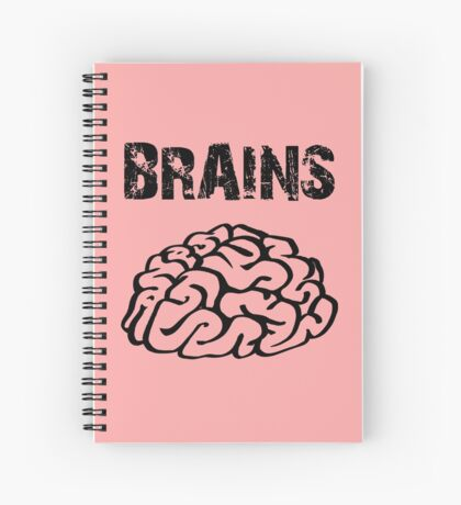 BRAINS by Zombie Ghetto Spiral Notebook