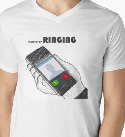 Telephobia Mens V-Neck T-Shirt