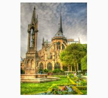 Notre Dame ..Garden Fountain view .. HDR Unisex T-Shirt