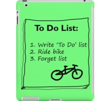 Cycling 'To Do' List :) iPad Case/Skin