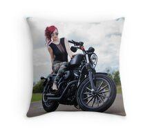 Army Girl Throw Pillow