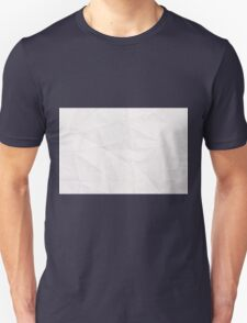 Rumpled crumpled paper texture background  T-Shirt
