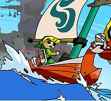 "Cell shaded ""The Wind Waker"" by Lazard"