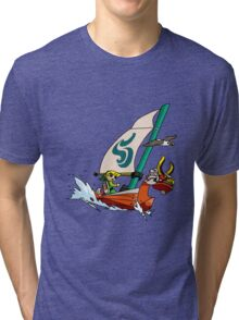 """Cell shaded """"The Wind Waker"""" Tri-blend T-Shirt"""
