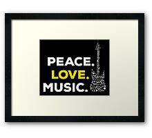 Peace. love. music! Framed Print