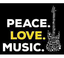 Peace. love. music! Photographic Print
