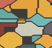 Colorful pieces Sticker