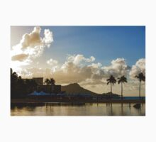 Morning Gold in Waikiki - Impressions of Hawaii One Piece - Long Sleeve