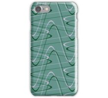 Doodles on a green background iPhone Case/Skin