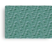 Doodles on a green background Canvas Print
