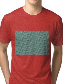 Doodles on a green background Tri-blend T-Shirt
