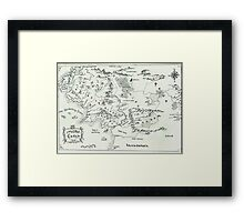 Middle Earth Framed Print