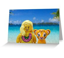 Marilyn Monroe Tiger Greeting Card