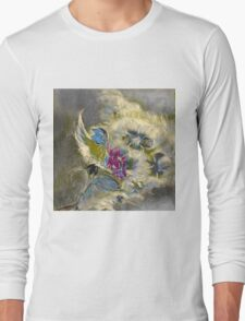floral oil painting Long Sleeve T-Shirt