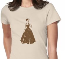pretty vintage lady in brown elegant Womens Fitted T-Shirt