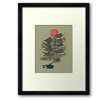 There's Chocolate in Those Mountains Framed Print