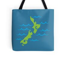 Tribal green New Zealand map on the water Tote Bag