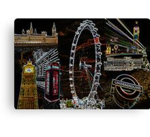 Sights Of London Canvas Print