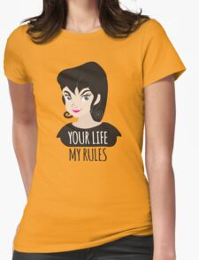 YOUR LIFE MY RULES awesome punk chick with black hair T-Shirt