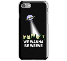 X-Files Cats Wanna Be Weeve iPhone Case/Skin