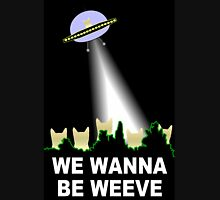 X-Files Cats Wanna Be Weeve Women's Fitted Scoop T-Shirt