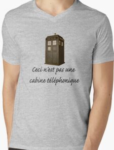 This is not a phone box Mens V-Neck T-Shirt