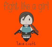 Fight Like a Girl - Tomb Girl Kids Tee