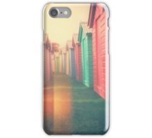 Beach Huts 02D - Retro iPhone Case/Skin