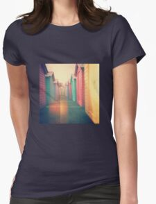 Beach Huts 02D - Retro Womens Fitted T-Shirt