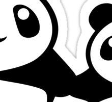 Cute Pandas holding hands Sticker