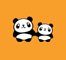 Cute Pandas holding hands Womens Fitted T-Shirt
