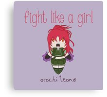 Fight Like a Girl - Blood Fighter Canvas Print