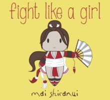 Fight Like a Girl - Cute Fighter Kids Tee