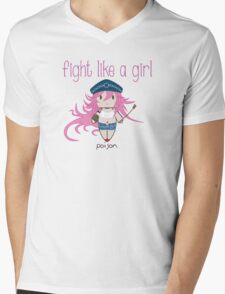Fight Like a Girl - She Fighter Mens V-Neck T-Shirt
