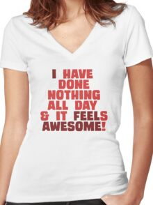 Nothing is as Awesome! Women's Fitted V-Neck T-Shirt