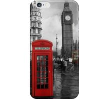 London Red Bus and Telephone Box iPhone Case/Skin