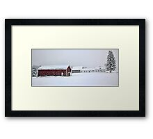 April 1st Blizzard - The Lindscott Farm Framed Print