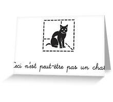Le Chat de Schrödinger (dark) Greeting Card
