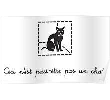 Le Chat de Schrödinger (dark) Poster