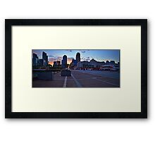 Street View at Broadway Pier Framed Print