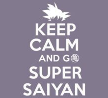 Keep Calm And Go Super Saiyan Dragon Ball Z Kame T-Shirt Kids Clothes