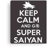 Keep Calm And Go Super Saiyan Dragon Ball Z Kame T-Shirt Canvas Print