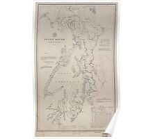 Civil War Maps 1495 Puget Sound Washington Territory Poster