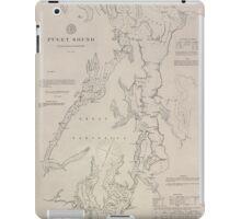Civil War Maps 1495 Puget Sound Washington Territory iPad Case/Skin