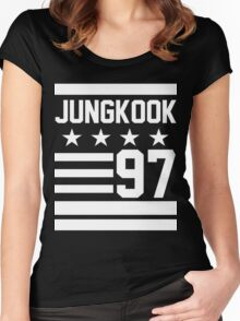 JUNGKOOK 97 Women's Fitted Scoop T-Shirt