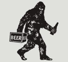 Bigfoot T-Shirt Bigdrunk Sasquatch Yeti Funny Beer Tee by teefighter