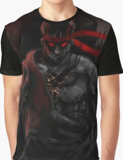 EVIL Ryu So badass Street Fighter Graphic T-Shirt