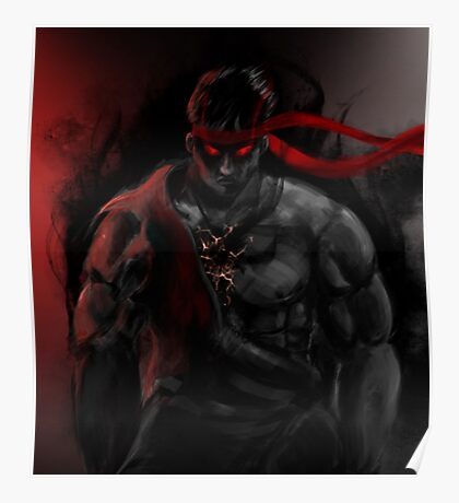 EVIL Ryu So badass Street Fighter Poster